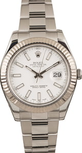 Pre-Owned Rolex Datejust II Ref 116334 White Dial 41MM T