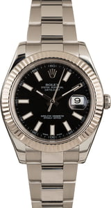 Used Rolex Datejust II Ref 116334 Black Luminous Dial T