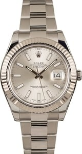 Used Rolex Datejust II Ref 116334 Silver Luminous Dial