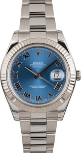 Pre Owned Rolex Datejust 116334 Blue Roman Dial