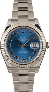 Used Rolex Datejust 116334 Blue Roman
