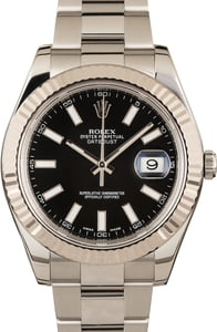 Genuine Rolex Datejust 116334 Black Dial