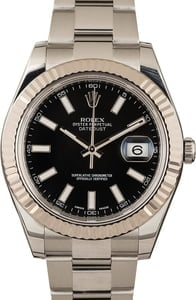 Rolex Datejust 116334 Black Index Dial