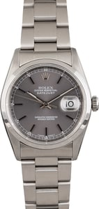 Pre Owned Rolex Datejust Stainless Steel Watch 16200