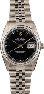 Pre Owned Rolex Datejust 16220 Black Dial