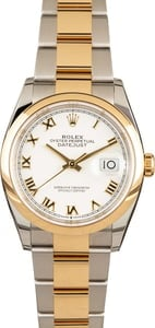 PreOwned Rolex Datejust 126203 White Roman Dial