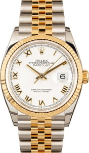 Pre-Owned Rolex Datejust 126233 White Roman Dial