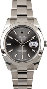 Pre Owned Rolex Datejust 41 Ref 126300 Rhodium Index Dial