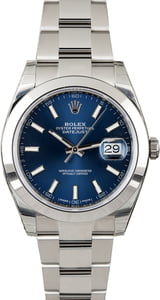 Unworn Rolex Datejust 126300 Blue Dial