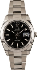 Men's Rolex Datejust 126300 Black Dial