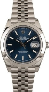Pre Owned Rolex Datejust 126300 Blue Dial