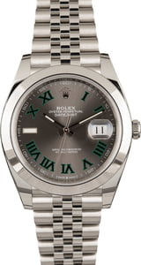 Pre Owned Rolex Datejust 126300 Rhodium Dial