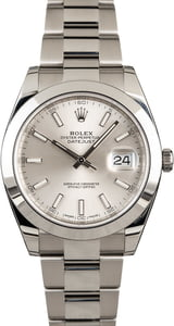 Rolex Datejust 126300 Silver Dial