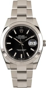 Rolex Datejust 126300 Black Dial