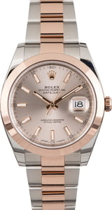 PreOwned Rolex Datejust 126301 Two Tone Everose Oyster