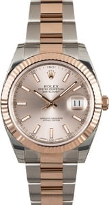 Unworn Rolex Datejust 126331 Two Tone Everose Oyster
