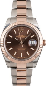 Rolex Datejust 126331 Two Tone Everose Slate Dial