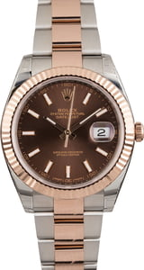 Unworn Rolex Datejust 126331 Chocolate Index Dial