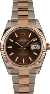 Used Rolex Datejust 126331 Two Tone Everose Oyster