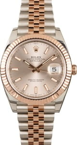 Pre-Owned Rolex Datejust 126331 Two Tone Everose Jubilee