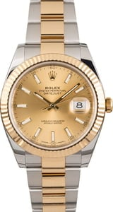 Rolex Datejust 41 Ref 126333 Two Tone with Champagne Dial