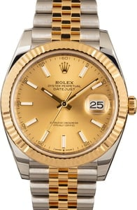 Rolex Datejust 126333 Champagne Two Tone Jubilee