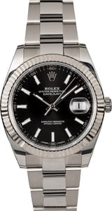 PreOwned Rolex Datejust 41 Ref 126334 Black Index Dial
