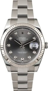 Rolex Datejust II Ref 126334 Dark Rhodium Diamond Dial