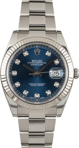 Rolex Datejust 41 Ref 126334 Blue Diamond Dial