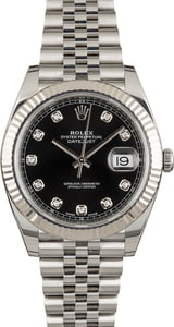 Rolex Datejust 41 Ref 126334 Black Diamond Dial