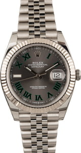 Pre Owned Rolex Datejust II Ref 126334 Slate Roman Dial