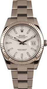 Pre-Owned Rolex Datejust 41 Ref 126334 White Dial