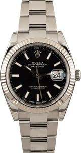 Pre Owned Rolex Datejust 126334 Black Dial