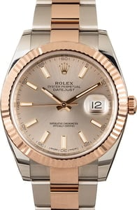 PreOwned Rolex Datejust 126331 Two Tone Everose Sundust Dial