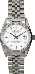 Rolex Datejust 1600 White Dial