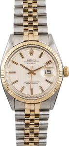 Pre Owned Rolex Datejust 1600 Silver 'Pie Pan' Dial