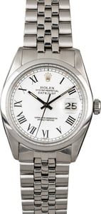 Rolex Datejust 16000 White Buckley Dial