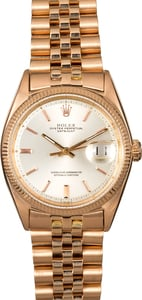 Rolex Datejust 18k Rose Gold 1601