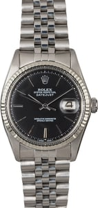 Rolex Datejust 1601 Black Dial TT
