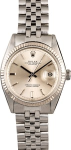 Rolex Datejust 1601 Silver Pie Pan
