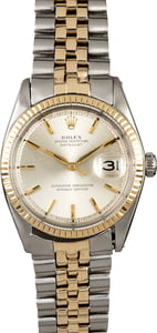 Two Tone Rolex Datejust 1601 Silver Dial