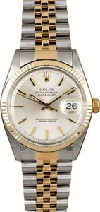 Rolex Datejust 1601 Silver Dial Two Tone Jubilee