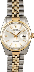 Men's Rolex Datejust 1601 Silver Dial Two Tone