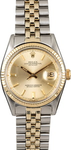 Rolex Datejust 1601 Two Tone American Oval Link