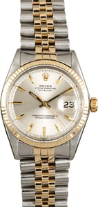 Used Rolex Datejust 1601 Silver 'Pie Pan' Dial