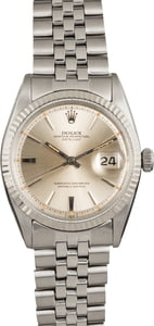 Pre-Owned Rolex Datejust 1601 Silver Pie Pan Dial