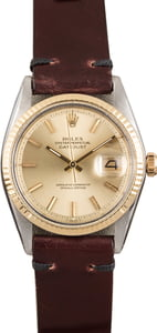 Pre Owned Rolex Datejust 1601 Leather Strap