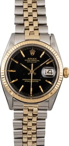 Vintage Rolex Datejust 1601 Black 'Pie Pan' Dial