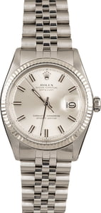 Pre-Owned Rolex Datejust 1601 Silver Dial Watch