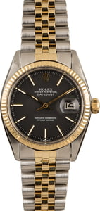 Pre Owned Rolex Datejust 1601 Black 'Pie Pan' Dial